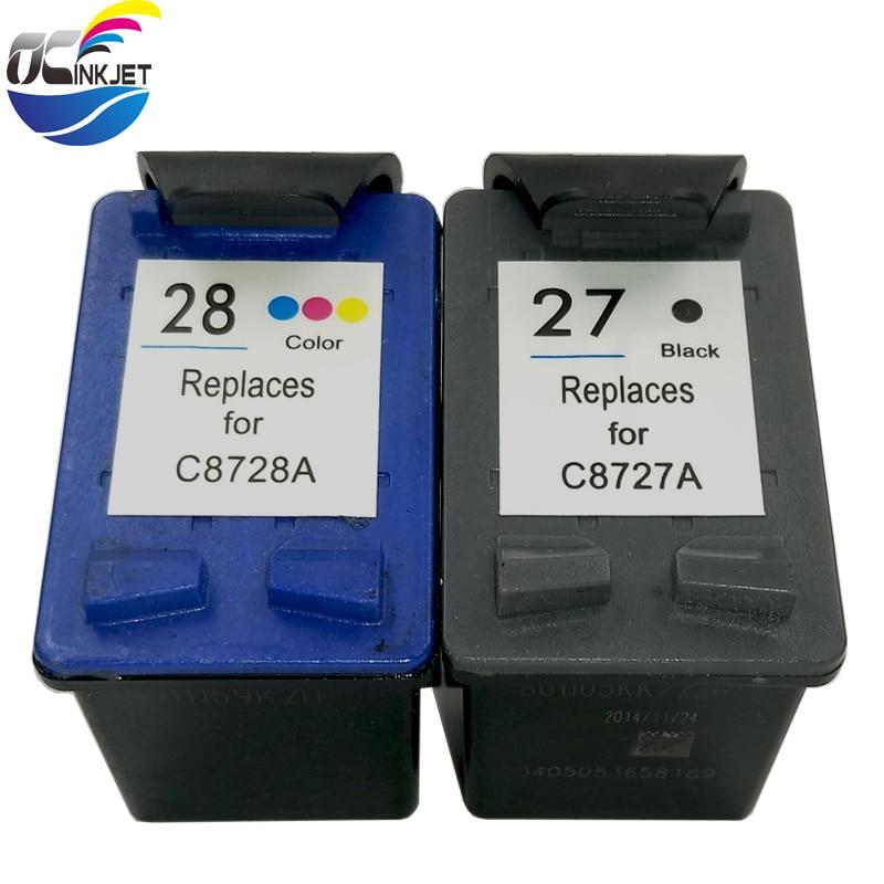 OCINKJE Replacement For Hp 27 28 Hp27 Ink Cartridge For HP Deskjet 450 3325 3400 3845 3740 3845 4215 4225 1315 5600 5608 5609