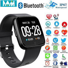 MMN Y7 Smart Bracelet Blood Pressure Heart Rate Monitor Sport Fitness Tracker IP67 Waterproof Wristband for Android IOS