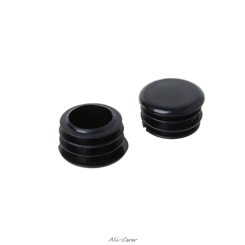 4pcs Bike Black Mini Rubber Grip Handlebar Bar End Plugs Stoppers Caps XL
