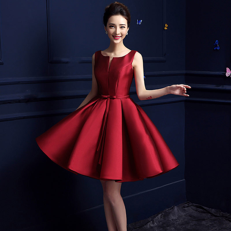 Red a-line cocktail dresses