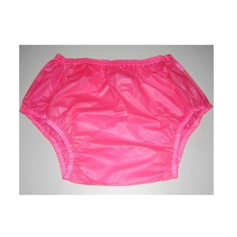 Free Shipping FUUBUU2201-Pink-L-2PCS Pull On Plastic Pants Underwear Men Boxers Shorts Men Pvc Incontinence Shorts