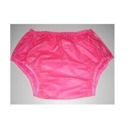 Freies verschiffen FUUBUU2201-Pink-L-2PCS Pull auf kunststoff hosen unterwäsche männer boxer shorts männer pvc inkontinenz shorts