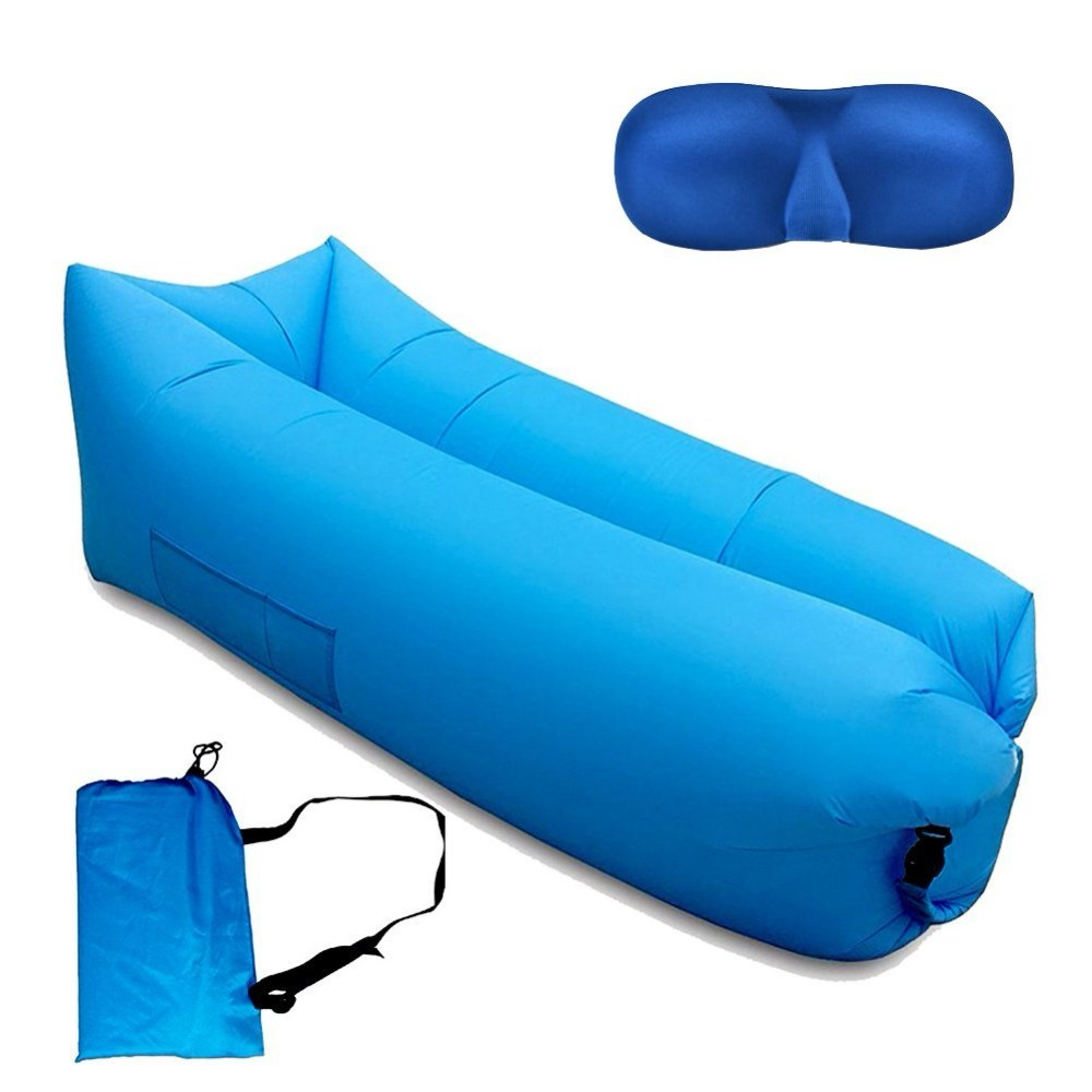 SKL Inflatable Lounger Chair Sofa with Side Pocket
