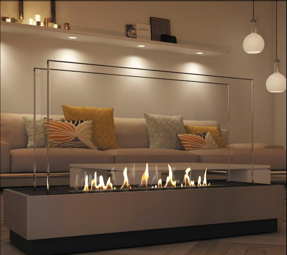 Inno Living Fire 60 Inch 1.5M Intelligent Remote Control Fireplace Bioethanol Fire