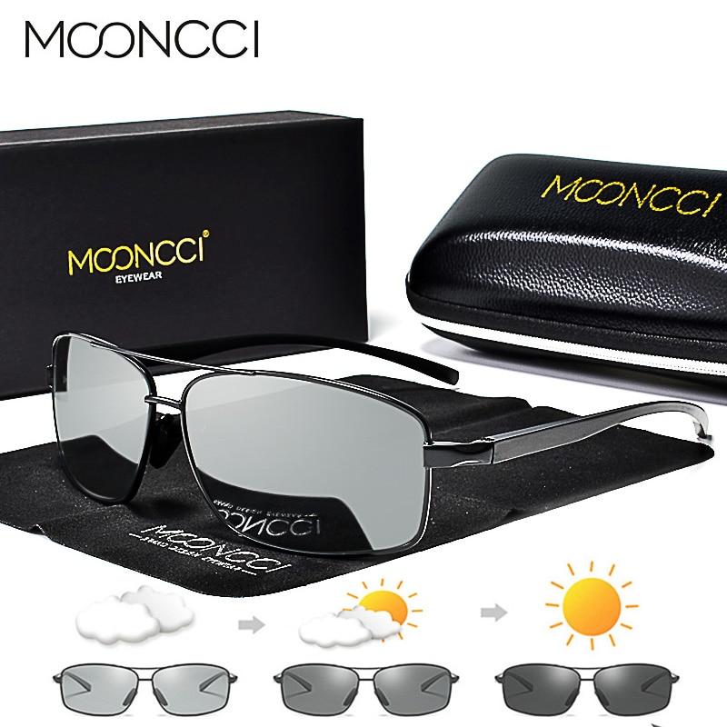 MOONCCI Photochrome Sonnenbrille Männer Polarisierte Aluminium Chameleon Gläser HD Driving Shades Sonnenbrille Männliche oculos gafas lentes