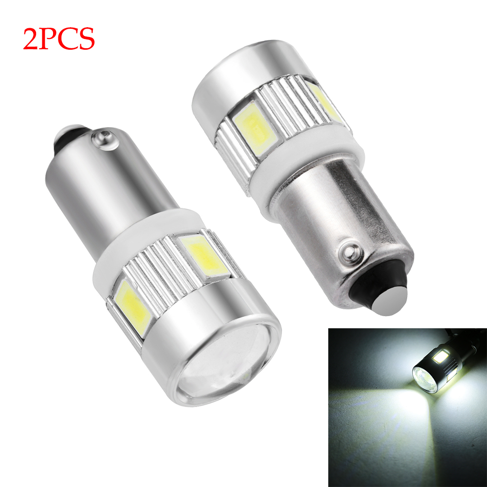 White LED Car Wedge Side Light BA9S T4W H6W 363  License Plate Bulb 5630 6 SMD