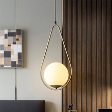 JAXLONG Nordic Led Copper Pendant Lights Balcony Simple Aisle Hanging Bedroom Bedside Art Lustre Suspension Dining Room Reading