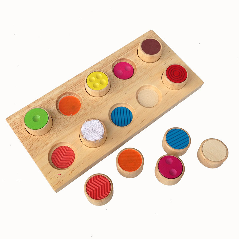 Kids Baby Toys Wooden Blocks Shape Jointed Board Memory Touch Flip Board Wooden Blocks Colorful Toys Learning Educational Toy