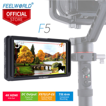 Feelworld 5 polegada On Camera Monitor de Campo DSLR Full Pequenas IPS 4 k Entrada HDMI OutputTilt Braço De Alimentação DC F5