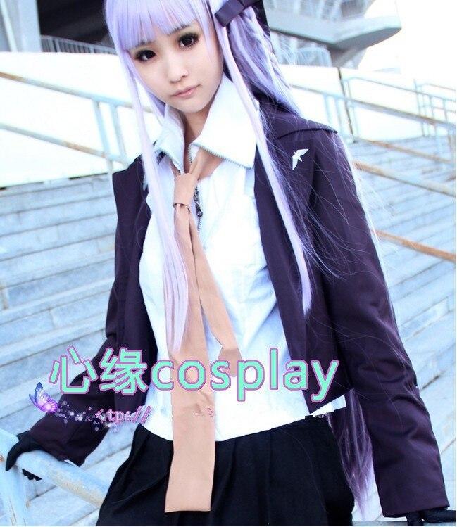 """Danganronpa Dangan Ronpa Kyoko kiuko kirigri вечернее платье в стиле """"Лолита"""" юбка костюм униформа косплей костюм любой размер длинные волосы парик"""