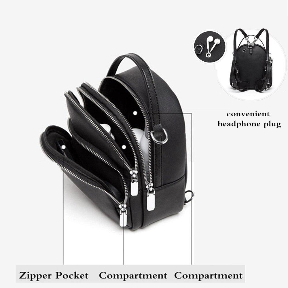 Hot DealsBISONJS Backpack Womens'-Pouch Girls Shoulder-Bags Multifunction Feminina for Small Mochila