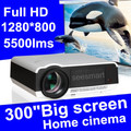 Hot sale!Brightest 5500lumen Built in Android 4.2.2 Full HD Led Digital RJ45 Projector 3D  Wifi,Wireless connect for iPhone/iPad