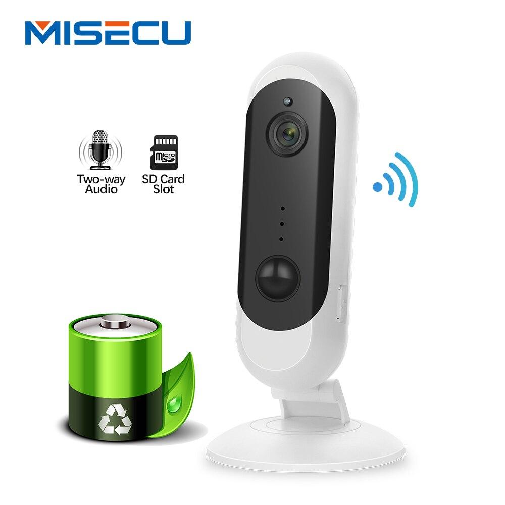 MISECU 1080 P HD batterie caméra IP WiFi sans fil sécurité à domicile Vision nocturne Rechargeable alarme Audio faible puissance Mini caméra IP