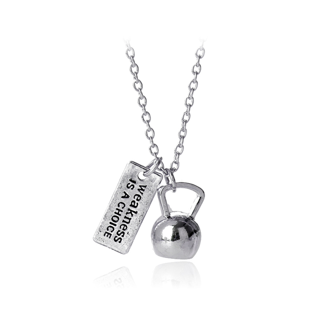 Weakness is a choicelettering necklace silver plated pendants weakness is a choicelettering necklace silver plated pendants 2017 casual sporty necklaces mozeypictures Images