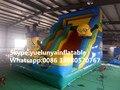 Directo de fábrica castillo inflable castillo de diapositivas diapositivas grandes obstáculos Animales combinación Pequeño tobogán amarillo KY-706