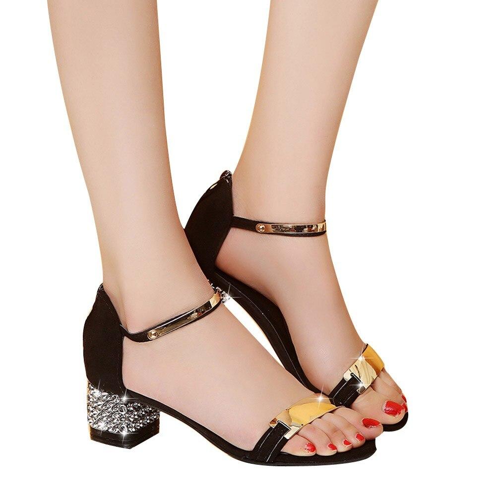 Abierta Alto Zapatillas Cuadrado 56 A Tacón Zapatos De Punta Sandalias  Mujeres Mujer Verano Flicker Gladiador ... 3f7d4474e822