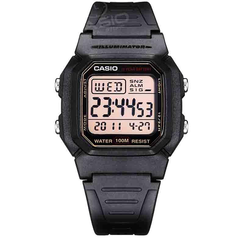CASIO Часы Модные мужские кварцевые часы Повседневная Военный стиль аналогового наручные часы человек бренд часы W-800H-1A