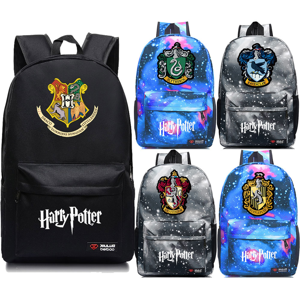 Student Backpacks Schoolbags Canvas Hogwarts Teenagers Ravenclaw Girl Gryffindor Boy