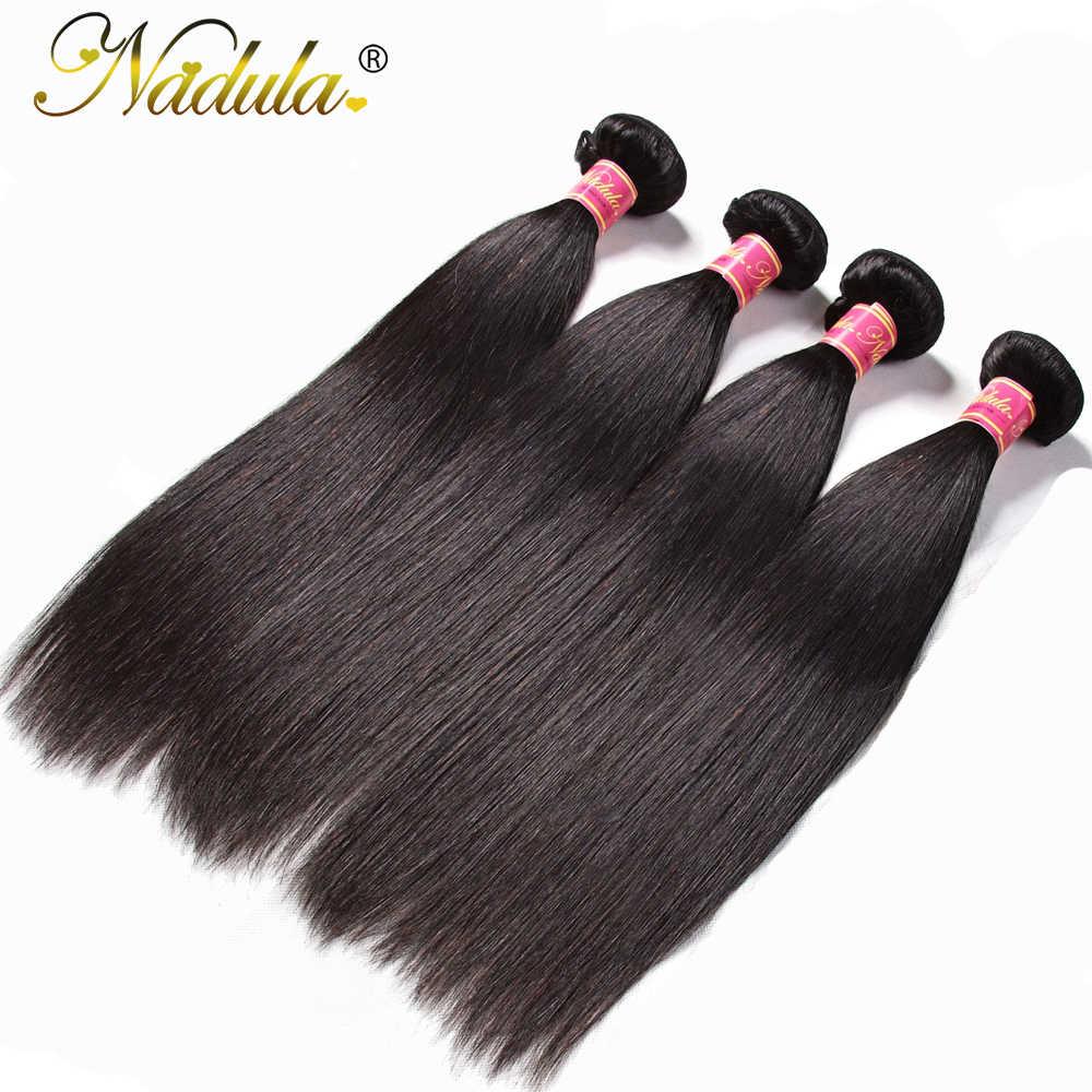 Nadula Haar 4 stks/partij Peruaanse Steil Haar Bundels 100% Menselijk Haar Weeft Natuurlijke Kleur Remy Hair Extensions 8-30inch