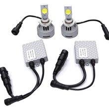 4HL Auto LED Headlight Kit 9005 Hb3 6400lm 64w High Power Ultra Bright 6500k Color 2pcs LED Bulbs