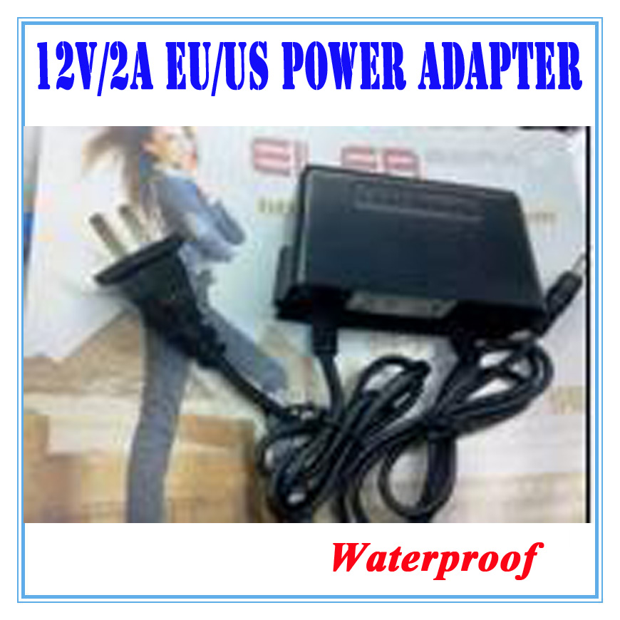 EU/US 12V 2A Power Supply AC 100-240V To DC Adapter Plug Waerproof For CCTV Camera / IP Camera Surveillance Accessories eu plug ac 100v 240v 12v 2a power supply adapter for security cctv ip camera routers hubs led strip 5 5 2 1mm freeshipping