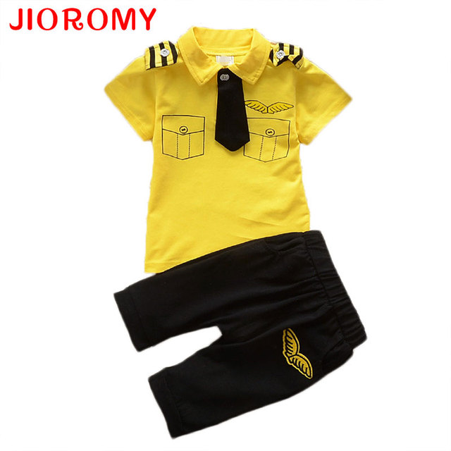 Kids Clothes Suits Children Baby Boys Summer Clothing Sets Cotton Kids Tie Gentleman Outfits Child Short Sleeve Tops T Shirt k1