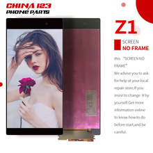 10pcs Original screen for SONY Z1 Display C6903 C6902 L39H LCD For SONY Xperia Z1 LCD Display Touch Screen Digitizer