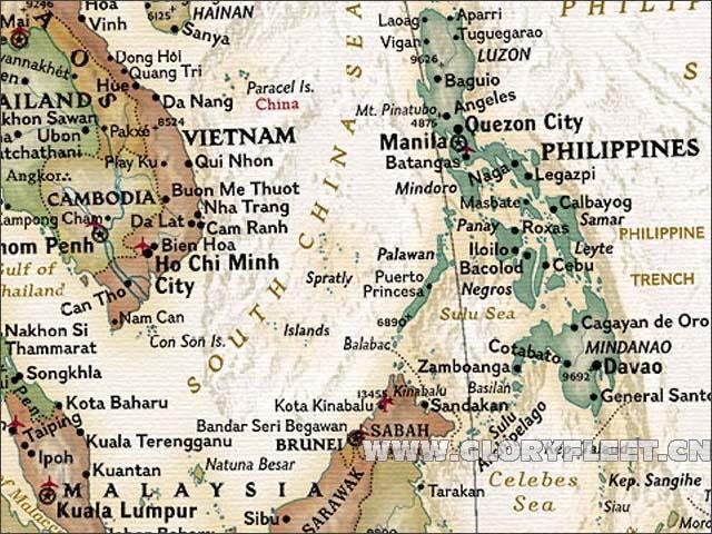 Large Vintage World Map Bar Cafe Home Decoration Detailed Antique - Large vintage world map