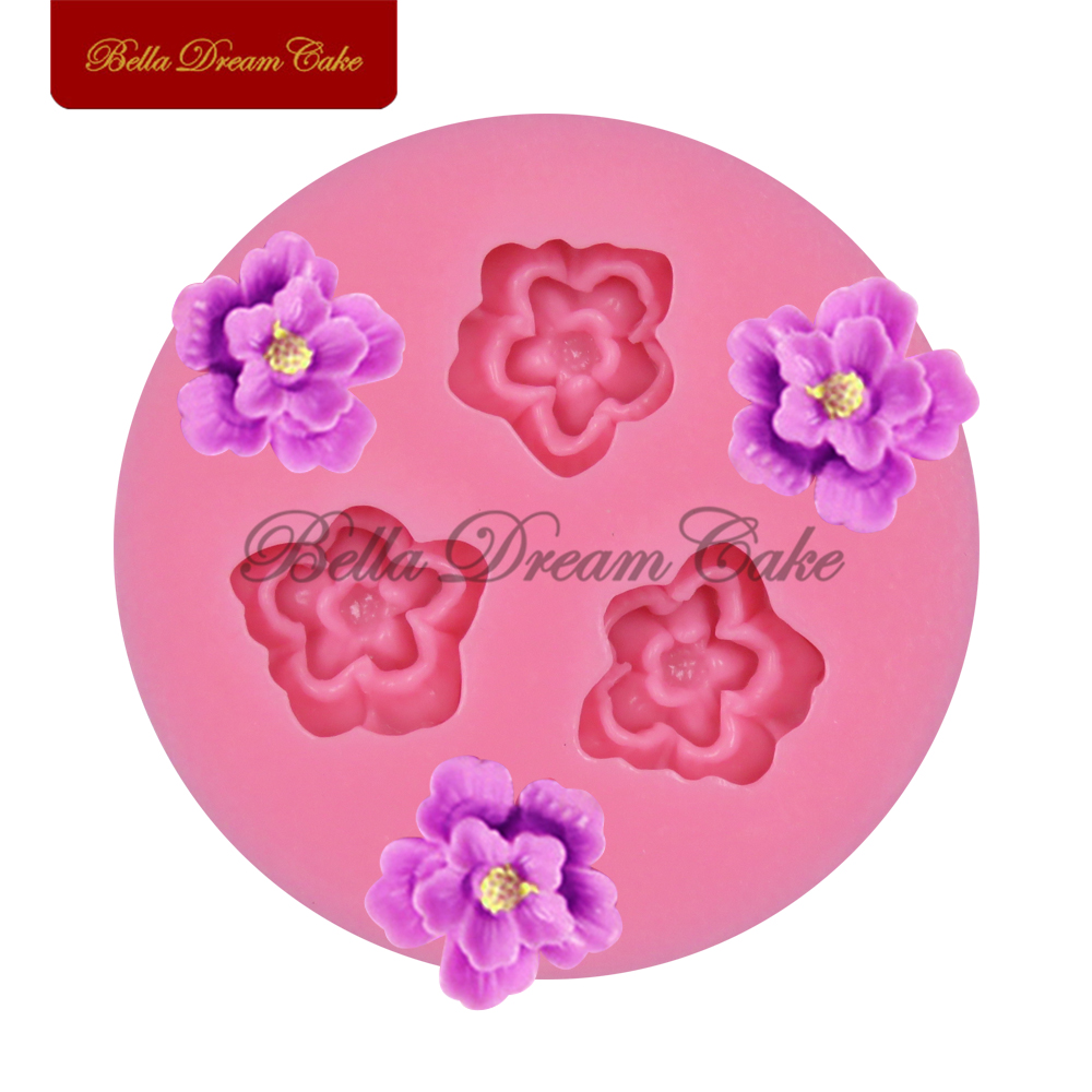 3 silicone mold flower