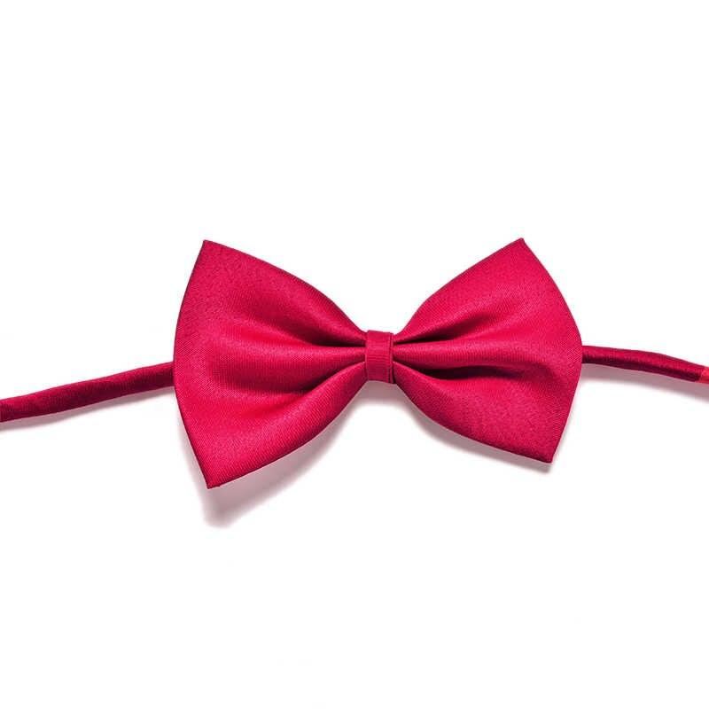 Kid Children Solid Bow Ties With Wedding Party Necktie Promotion Boys Pre-tied Adjustable Bowtie Bow Tie