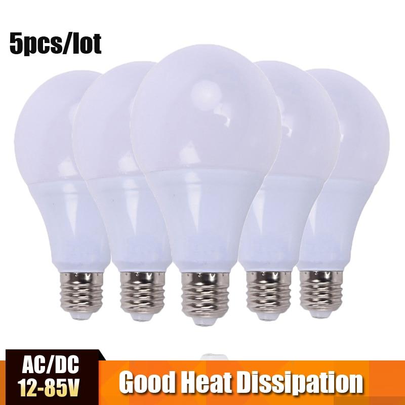 LED Bulb Lamp AC/DC 12V 24V 36V E27 3w 5w 7w 9w 12w 15w Energy Saving Lampada 12 Volts Led Light Bulbs For Outdoor Lighting