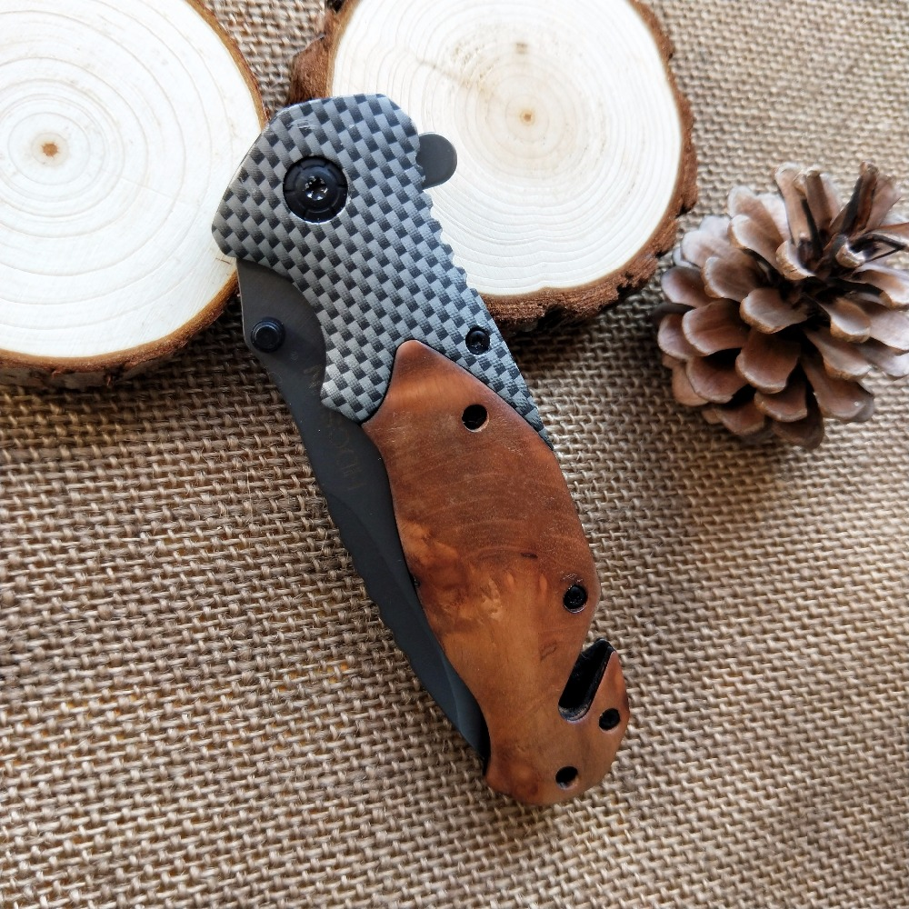 HDCSUN x50 CS ANDARE in fibra di carbonio + palissandro Pieghevole coltello in acciaio a freddo ganzo Tattico huntingknive campeggio di sopravvivenza Pocket Knife strumento