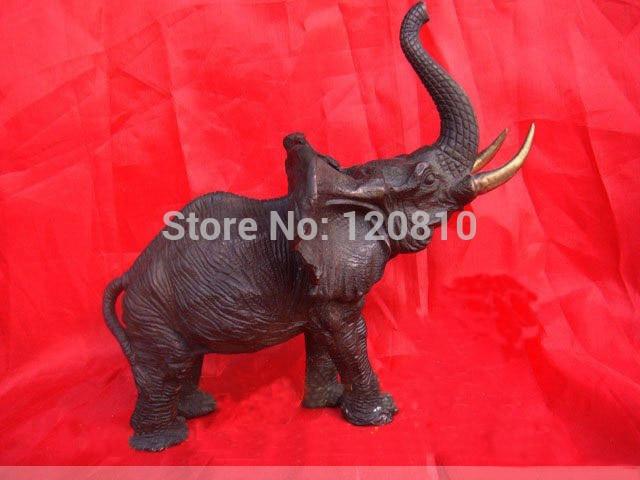 antiques Bronze Medium Chinese Bronze Elephant Statue Sculpture 6.8H