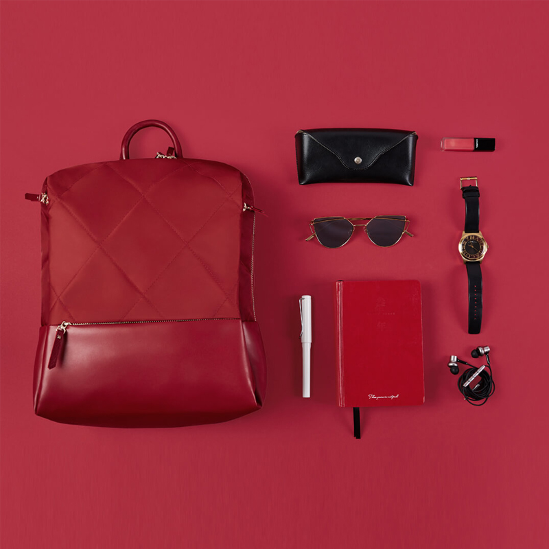 Оригинальный Xiaomi 90 Забавный городской рюкзак для женщин Модный Элегантный рюкзак с ромбовидной решеткой для девочек, Студенческая Повседневная Школьная Сумка 13 дюймов - 6