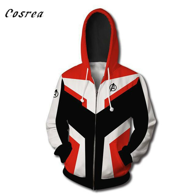 Avengers Endgame Quantum Realm 3D Print Hoodies Sweatshirt Superhero Captain America Iron Man Coat Jacket Tony Stark Hoodie