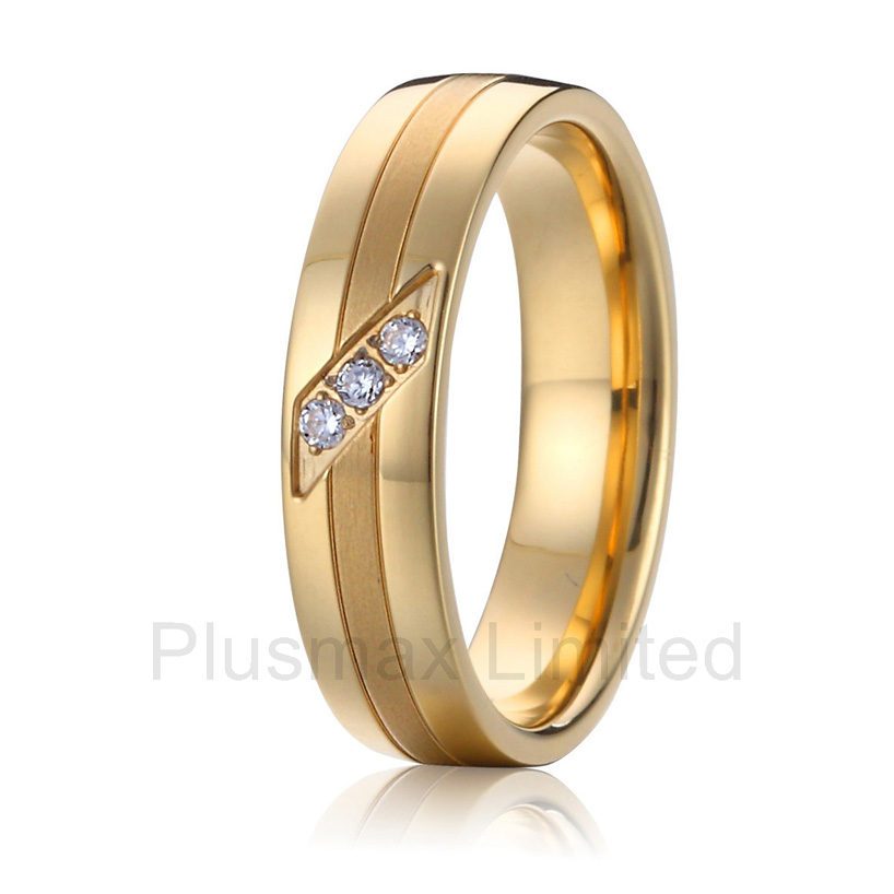 2016 anel masculino ouro pure titanium Handmade Custom Designer couples engagement wedding rings women anel feminino cheap pure titanium jewelry wholesale a lot of new design cheap pure titanium wedding band rings