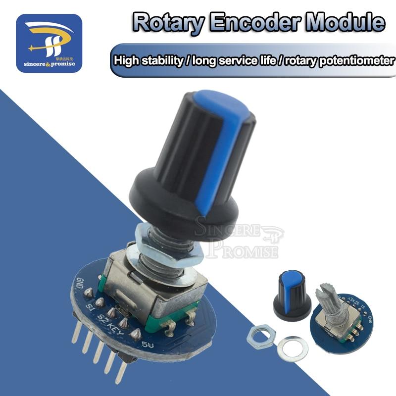 Rotating Potentiometer Knob Cap Digital Control Module Rotary Encoder Controller Switch 5V Diy Kit EC11 For Arduino PCB Board(China)
