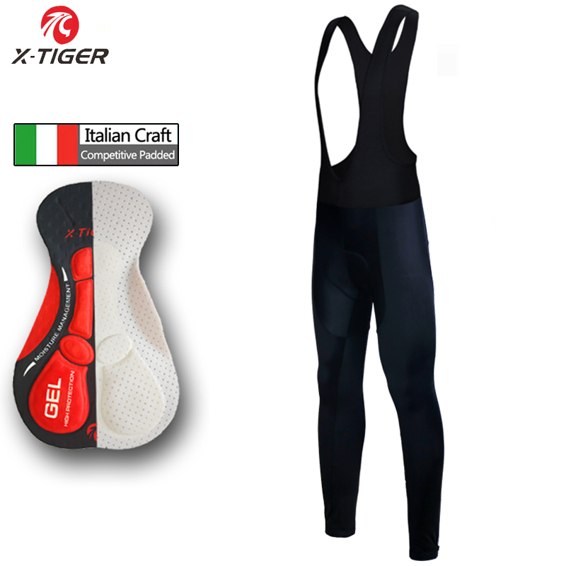 X-Tiger Keep Warm Cycling Bib Trousers Winter Thermal MTB Bike Pants Bicycle Tights Coolmax 5D Gel Pad Winter Cycling Pants 2016 organic rushed real tights knitted solid organic spandex winter pregnant women trousers bamboo charcoal fiber warm