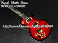 High Quality Vintage Red LP Slash Snake Snakepit Booking Custom Parts Chinese Electric Guitar With Silver