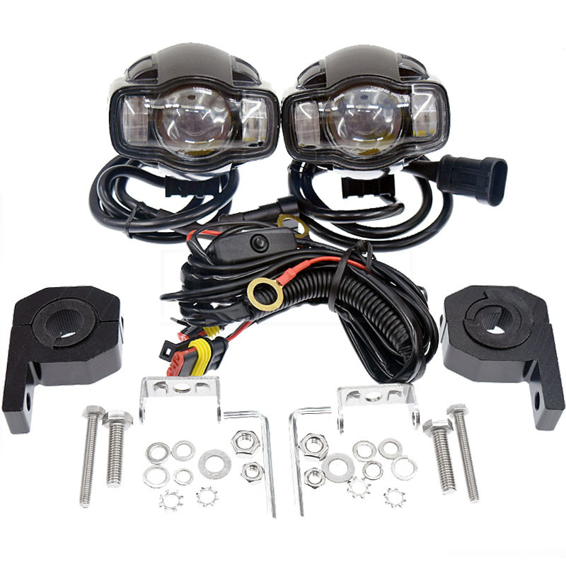 20W 2000LM CE Motorcycle Waterproof Fog font b Lamp b font Assembly Moto DC 9 85