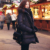 2016 Nueva Largo Parkas Atraight-tipo Chaqueta de Estilo Casual de Gran Tamaño Negro Mujeres Calientes Escudo Engrosamiento de Algodón de Invierno chaqueta