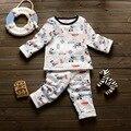 Crianças de Algodão Conjuntos de Roupa Interior Térmica Calças Do Bebê Da Menina do Menino Definir Manga Longa Mickey Pijama Bebê Recém-nascido Conjuntos de Roupas Menino Infantil