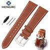 Wholesale 10pcs Set 22 24mm Soft Durable Genuine Leather Watchbands Brown Fashion Men Women Watch Band