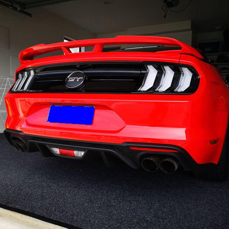 UBUYUWANTFor Ford موستانج 2015 2016 2017 2018 جودة عالية FRP مادة برامير لون السيارة الذيل الجناح الديكور الخلفي الجذع المفسد