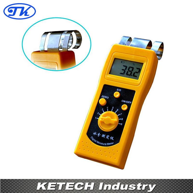 NEW Portable Digital Textile Moisture Meter Tester DM200T dm200t 0 50