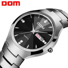 Horloge Mannen DOM Merk hot sport Luxe tungsten steel Strap Wrist 30m waterdicht Business Quartz horloges Fashion Casual W 698