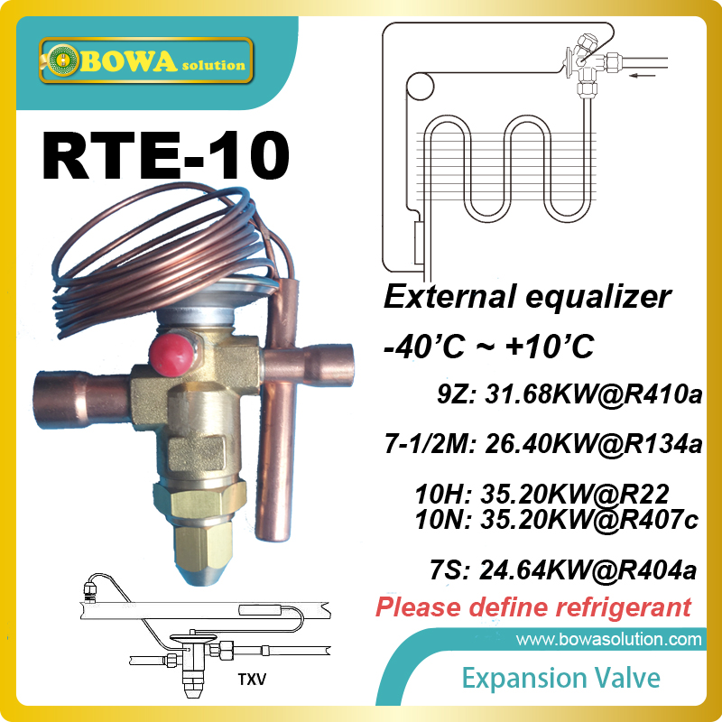 RTE-10 Thermostatic Expansion Valves Pin and port materials offer maximum protection against corrosion and erosion rosenberg rte 400002