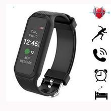 1.06 дюймов красочные Экран L38i Smart Монитор сердечного ритма SmartBand наручные Спорт Фитнес группа смарт-браслет для iOS и Android
