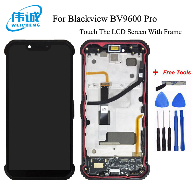 WEICHENG For Blackview BV9600 Pro LCD Display and Touch Screen With Frame 6.21Phone Accessories For Blackview BV9600+ToolsWEICHENG For Blackview BV9600 Pro LCD Display and Touch Screen With Frame 6.21Phone Accessories For Blackview BV9600+Tools