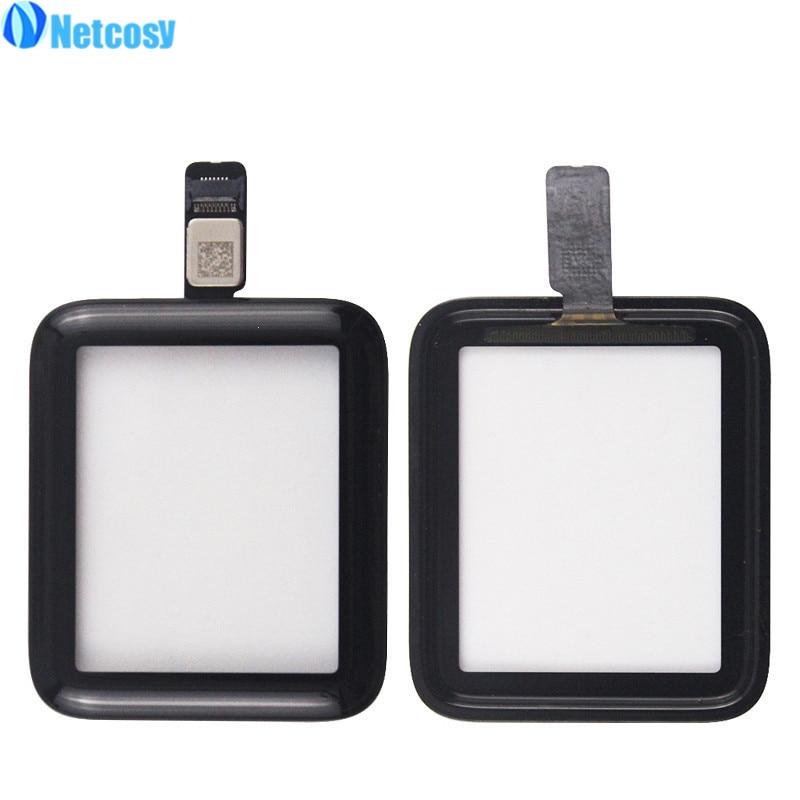 Netcosy 38mm 42mm digitalizador de pantalla táctil de cristal Panel lente para Apple Watch series 2 serie 3 38mm 42mm pantalla táctil Repiar partes
